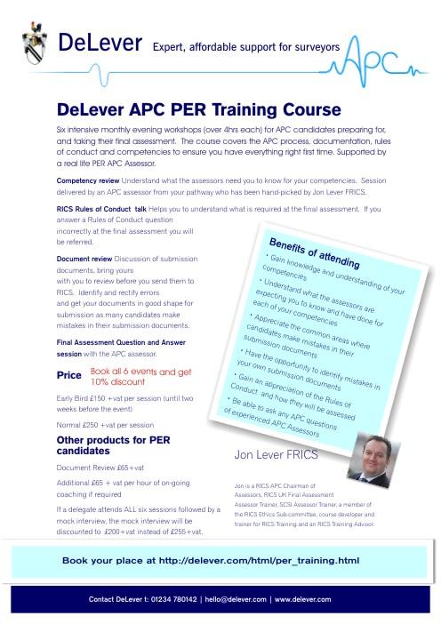 DeLever APC PER Training Course